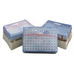 Наконечники 0,5-20мкл с двойным фильтром, длинные, стерильные 10 штативов с 96 шт