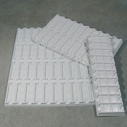Лоток на 10гнезд для предметных стекол, белый, 340х100мм