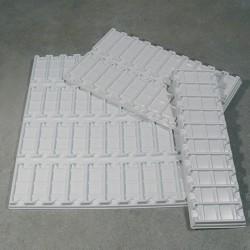 Лоток на 40 гнезд для предметных стекол, белый, 340х100мм
