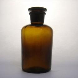 Бутыль 250мл,  темное стекло, узкое горло, притертая крышка (Китай)