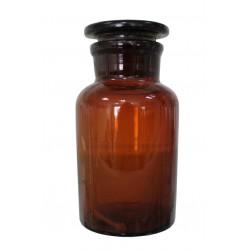 Бутыль 30мл, темное стекло, широкое горло, притертая крышка