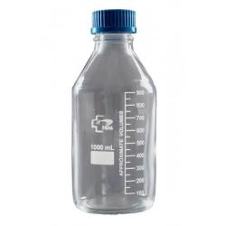 Бутыль 5000 мл, 45х186х335, светлое стекло, закручивающаяся крышка, градуированный