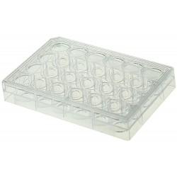 Планшет 24 лунки со стеклянным дном, в индивидуальной упаковке, с крышкой (Китай)