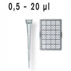 Наконечники 0,5-20мкл стерильные (штатив-96 шт)