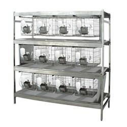 Комплекс для содержания  кроликов RS-12 (стеллаж, 12 клеток, 12 бутылочек, 12 кормушек)