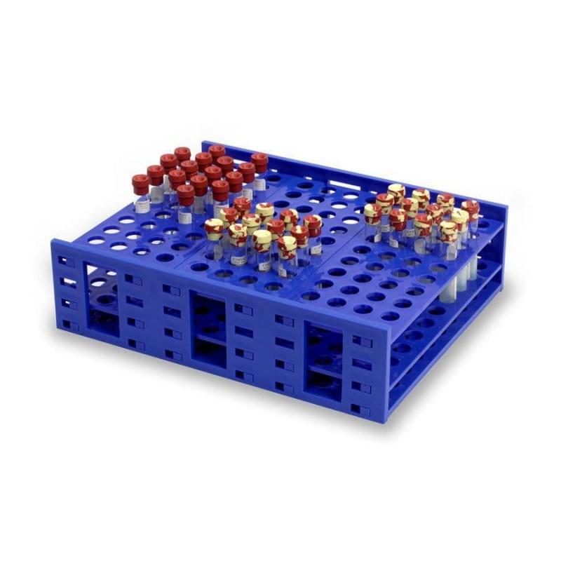 Штатив для пробирок 13-16мм на 216 гнёзд, синий (HS24322A)
