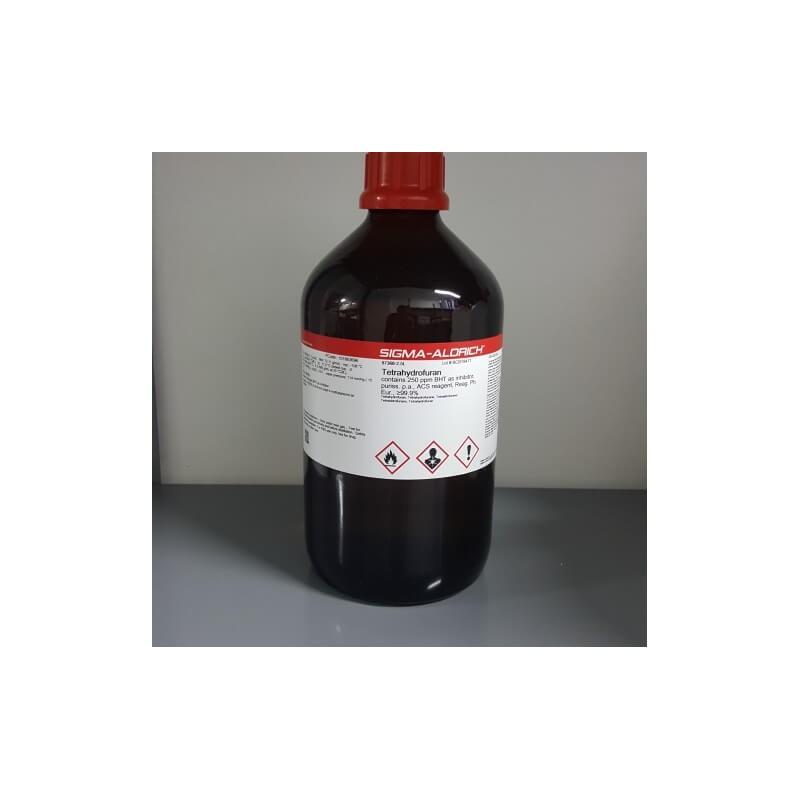 Тетрагидрофуран без ингибитора, для ВЭЖХ, ≥99,9%, 1 л