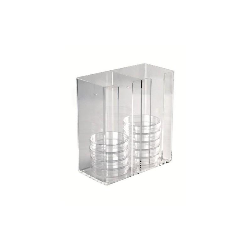 Штатив для 30 чашек Петри на 100мм, 22х107х236мм (HS23452)
