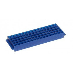Штатив для микропробирок 1,5-2,0 мл, 80 гнезд, автоклавируемый, синий (HS29025B)