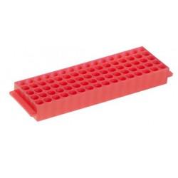 Штатив для микропробирок 1,5-2,0 мл, 80 гнезд, автоклавируемый, розовый (HS29025D)
