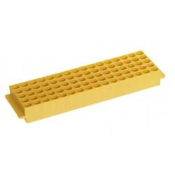 Штатив для микропробирок 1,5-2,0 мл, 80 гнезд, автоклавируемый, желтый (HS29025E)