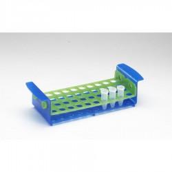 Штатив для микропробирок 5мл или пробирок 15мл на 40 гнезд, зеленый/синий (HS120467)