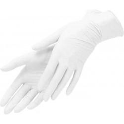 Перчатки латексные опудренные гладкие, размер 6-7 (S) (уп-50пар) (нестерильные)