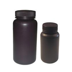 Бутыль РР 250мл с широким горлом темного цвета для реагентов (Китай)