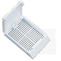 Кассета гистологическая с квадратными отверстиями, белая (HP20282W)