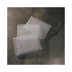 Планшет PS с плоским дном на 96 лунок с крышкой 0,31мл (стерильный) (№831837500)