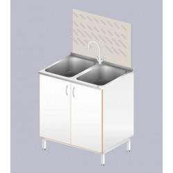 Стол-мойка ЛАБ-800МД (2 чаши)