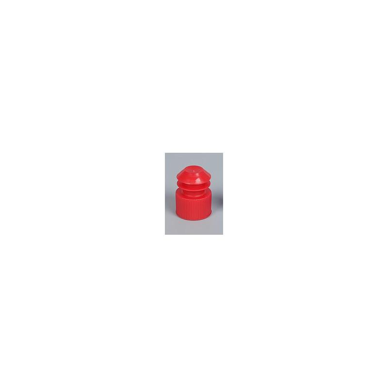 Пробка для пробирок 16х100мм, красный, PE