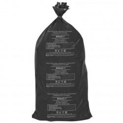 Пакет класса А, 1000х600 мм полиэтиленовый для сбора и хранения мед.отходов без зажимов (черный)