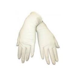 Перчатки латексные, без талька, размер 7-8 (М) (уп-50пар) (нестерильные)