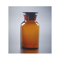 Бутыль 125 мл, темное стекло, широкое горло, притертая крышка (Китай)