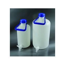 Бутыль 5000мл, 170*345мм узкое горло диаметром 62,5мм, PE-HD с закручивающейся крышкой с краном
